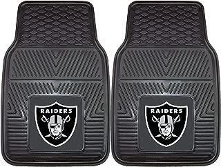 "product image for FANMATS 8774 NFL Oakland Raiders Vinyl Heavy Duty Car Mat,18""x27"""