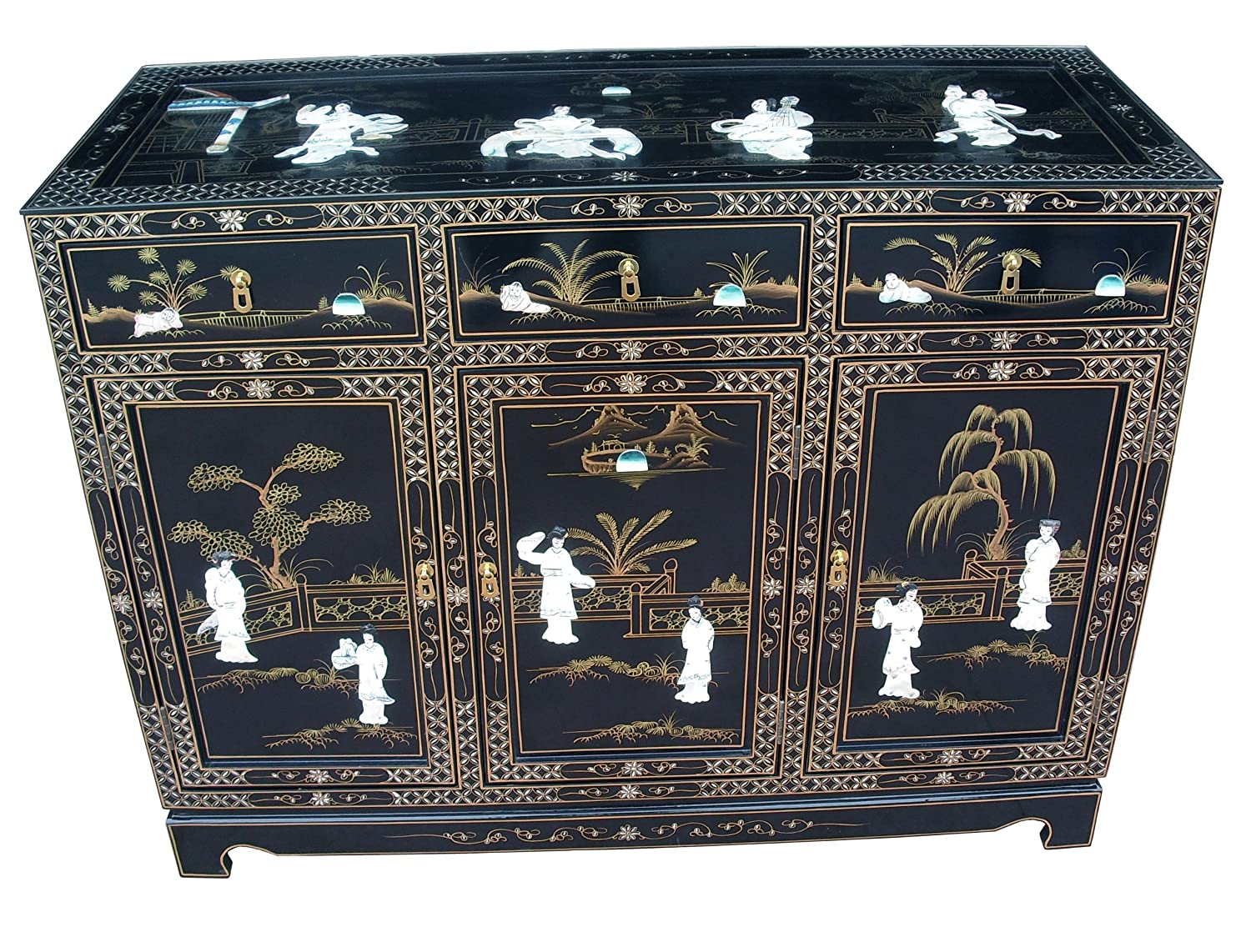 how to clean lacquer furniture. Chinese Furniture - Black Lacquer Sideboard Cabinet With Mother Of Pearl Inlay, Oriental Furniture: Amazon.co.uk: Kitchen \u0026 Home How To Clean