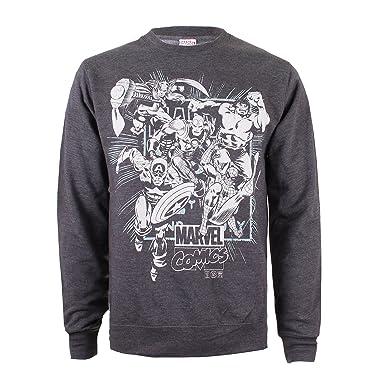 Marvel Herren Sweatshirt Band of Heroes: : Bekleidung