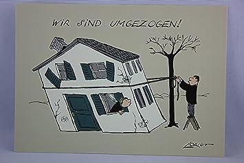 Postkarte A6 065 Wir Sind Umgezog Von Inkognito Kunstler Loriot Design Gmbh C Loriot Satire Amazon De Burobedarf Schreibwaren