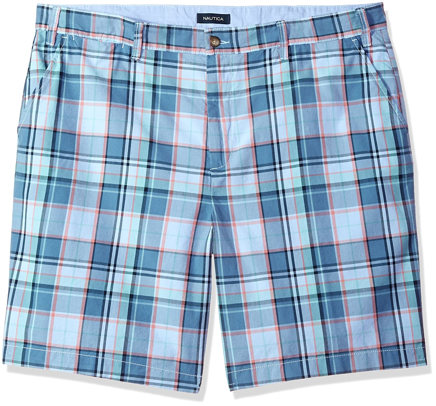 Nautica Men's Big and Tall Cotton Twill Flat Front Chino Deck Short -
