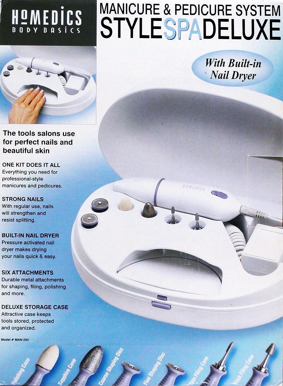 Amazon.com : HOMEDICS Style Spa Deluxe Manicure & Pedicure System W ...