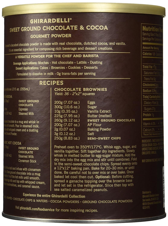 Amazon.com : Ghirardelli Chocolate Sweet Ground Chocolate & Cocoa ...