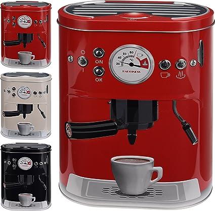 Tarro para café con diseño de máquina espresso,para monodosis, café en polvo,