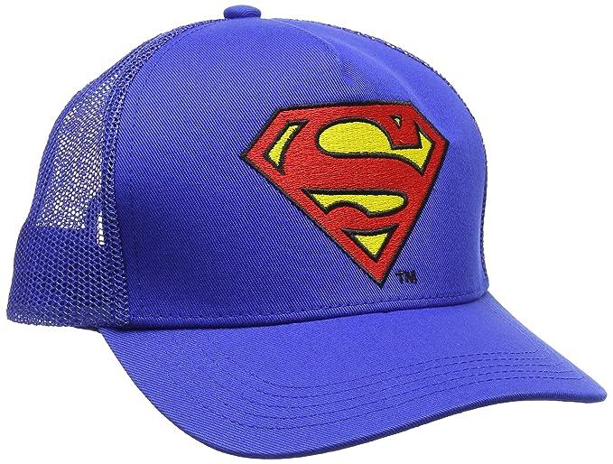 Logoshirt DC Comics - Superman Logo Gorra - Visera para niño - Bordado - Azul - Diseño Original con Licencia: Amazon.es: Ropa y accesorios