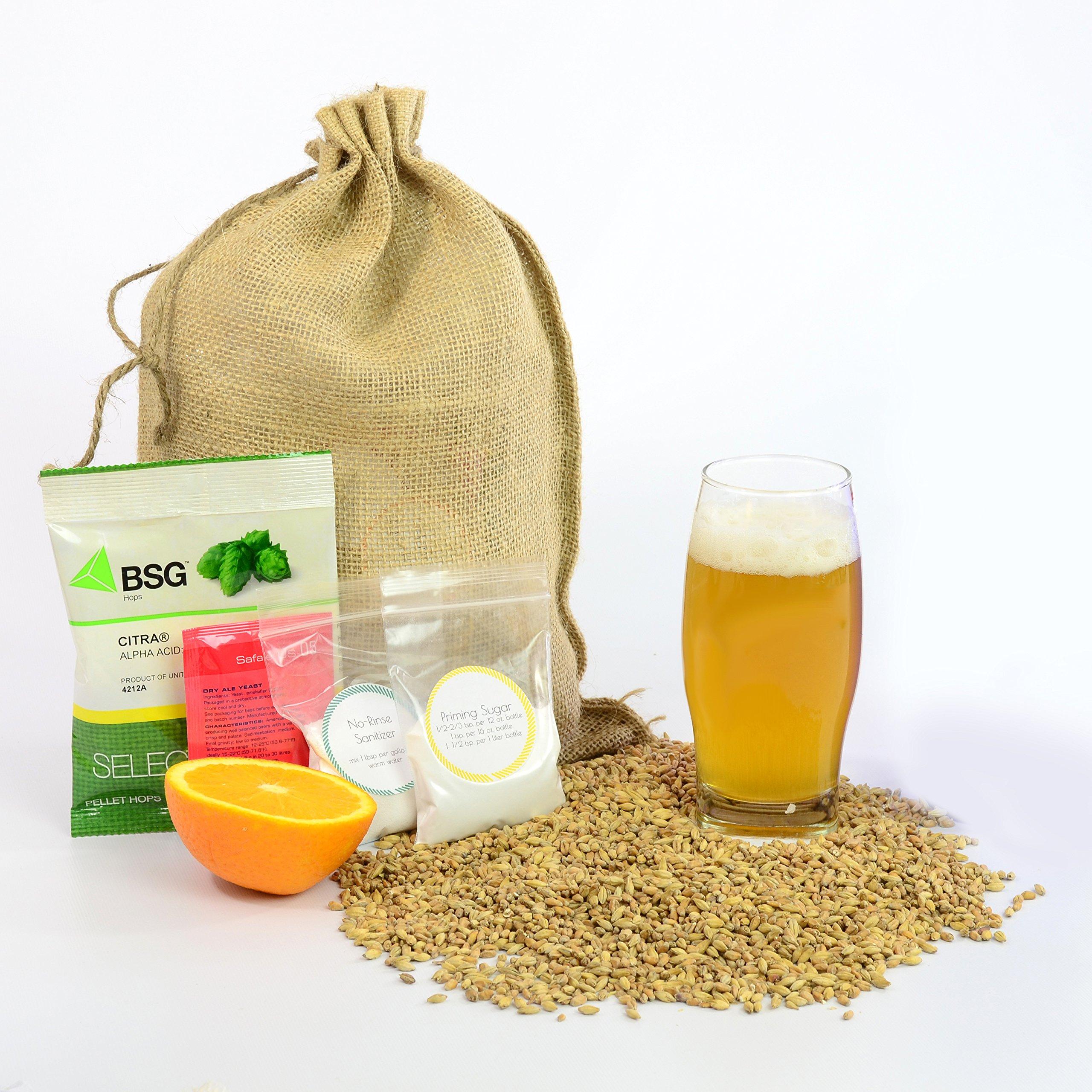 1 Gallon Home Brewing Homebrew Recipe Kit, Tropic Thunder Citra IPA, 5.4%