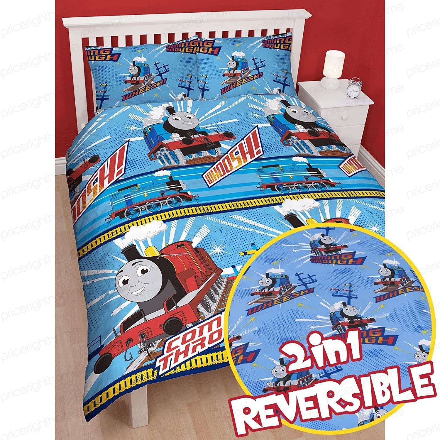 Thomas   Friends  WHEESSH  Duvet Cover Set New Tank Engine Single Rotary  Reversible Duvet Set Birthday Christmas Gift   Duvet cover and Pillow Case. Thomas   Friends  WHEESSH  Duvet Cover Set New Tank Engine Single