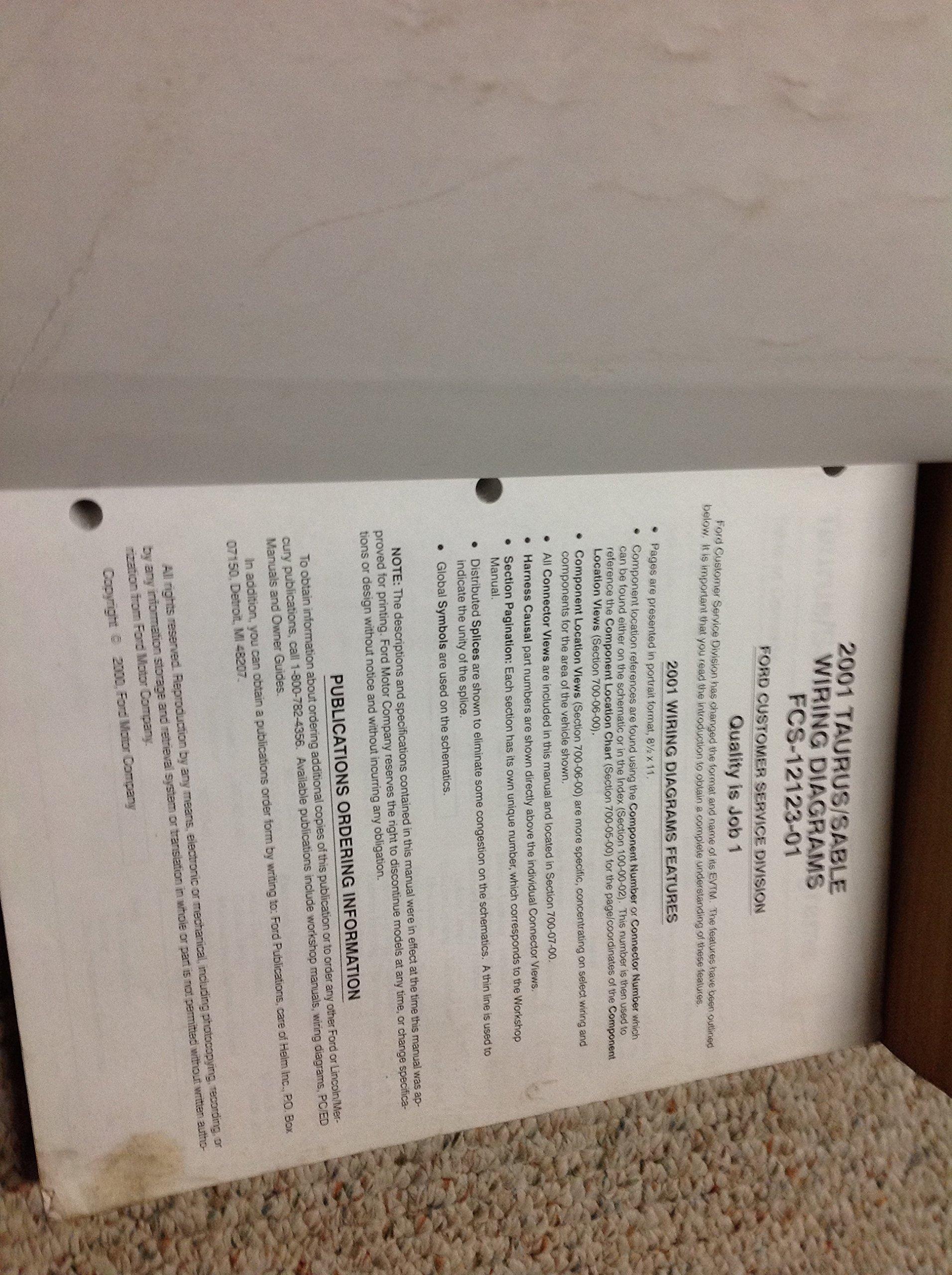 2001 FORD TAURUS MERCURY SABLE Service Shop Repair Manual Set W EWD +  Technical: FORD: Amazon.com: Books