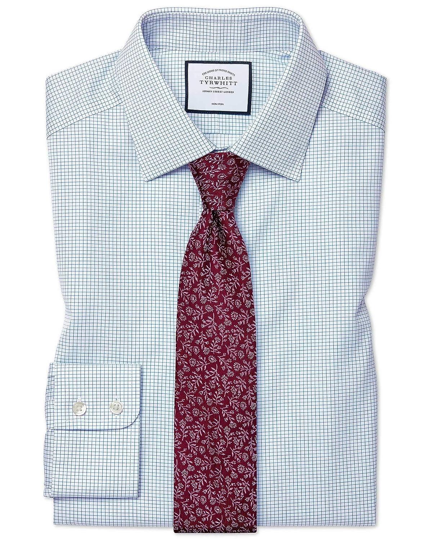 Charles Tyrwhitt Camisa Azul Celeste de Sarga y Corte clásico con ...