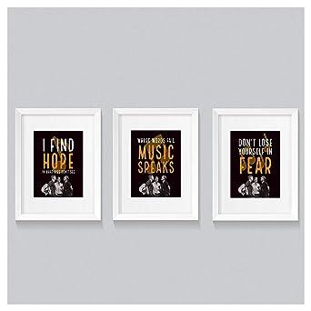 Amazon Com Hanson Lyrics Wall Print Set Three 8 X 10 Posters Fanson Motivational Inspirational Dorm Room Decor Music Art Bedroom Industrial Scientific