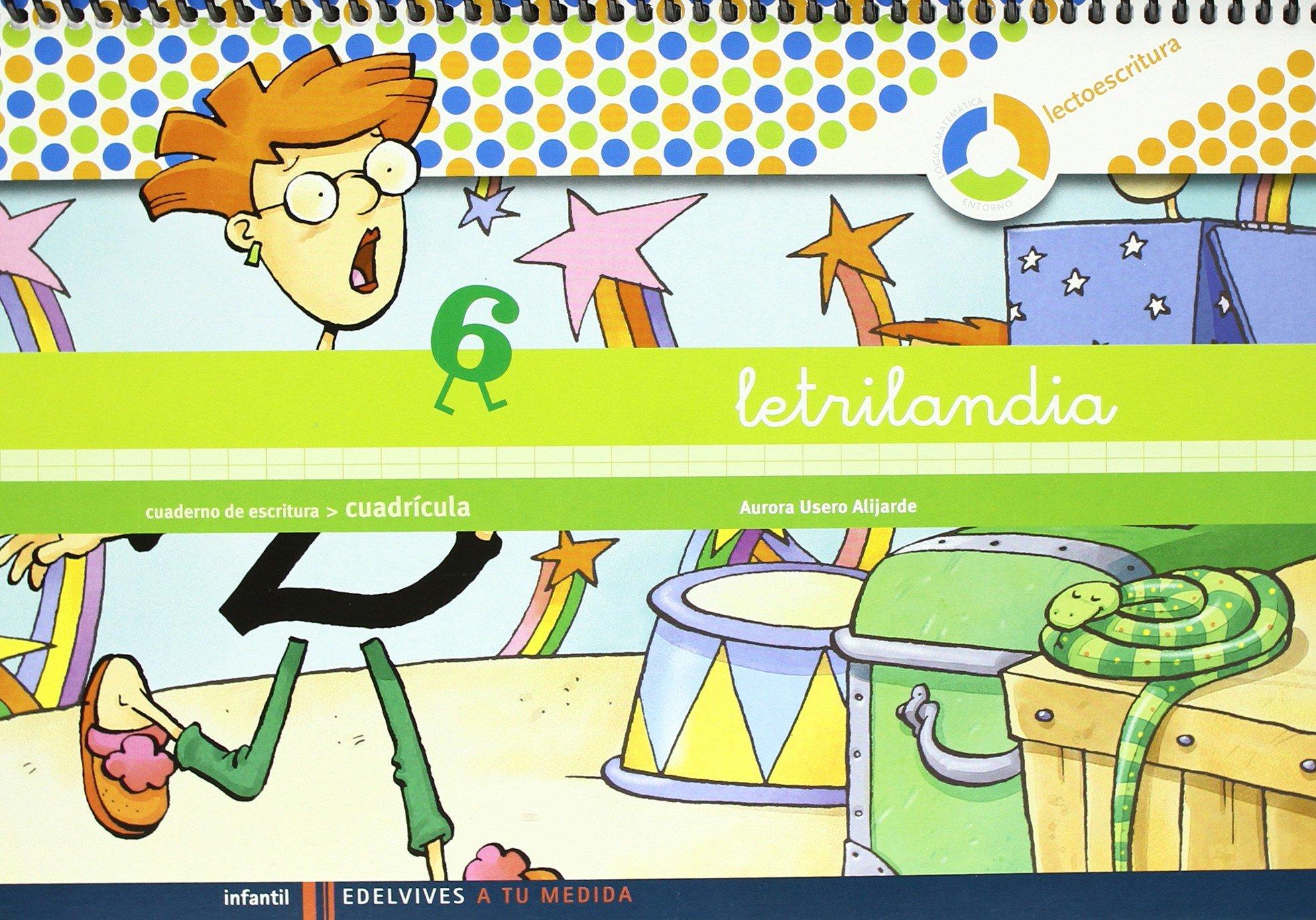 Lectoescritura cuaderno 6 de escritura Cuadricula A ru medida entorno  lógica matemática: Amazon.es: Aurora Usero Alijarde: Libros