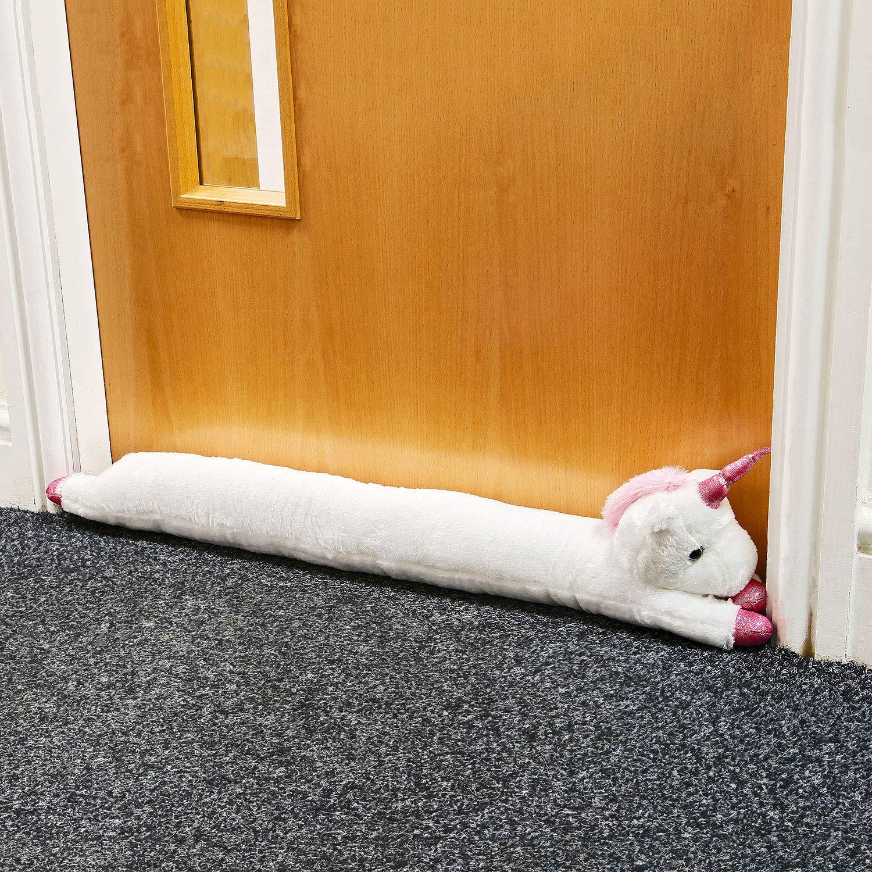 Cute Unicornio de Felpa para Puerta Protector de Brisa para Puerta y Ventana Taylor /& Brown Mantener el Calor Dentro y Fuera fr/ío