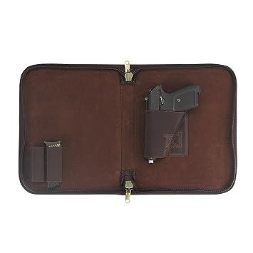 Tourbon Leinwand und Leder Pistolen Pistole Tasche Teppich: Amazon ...