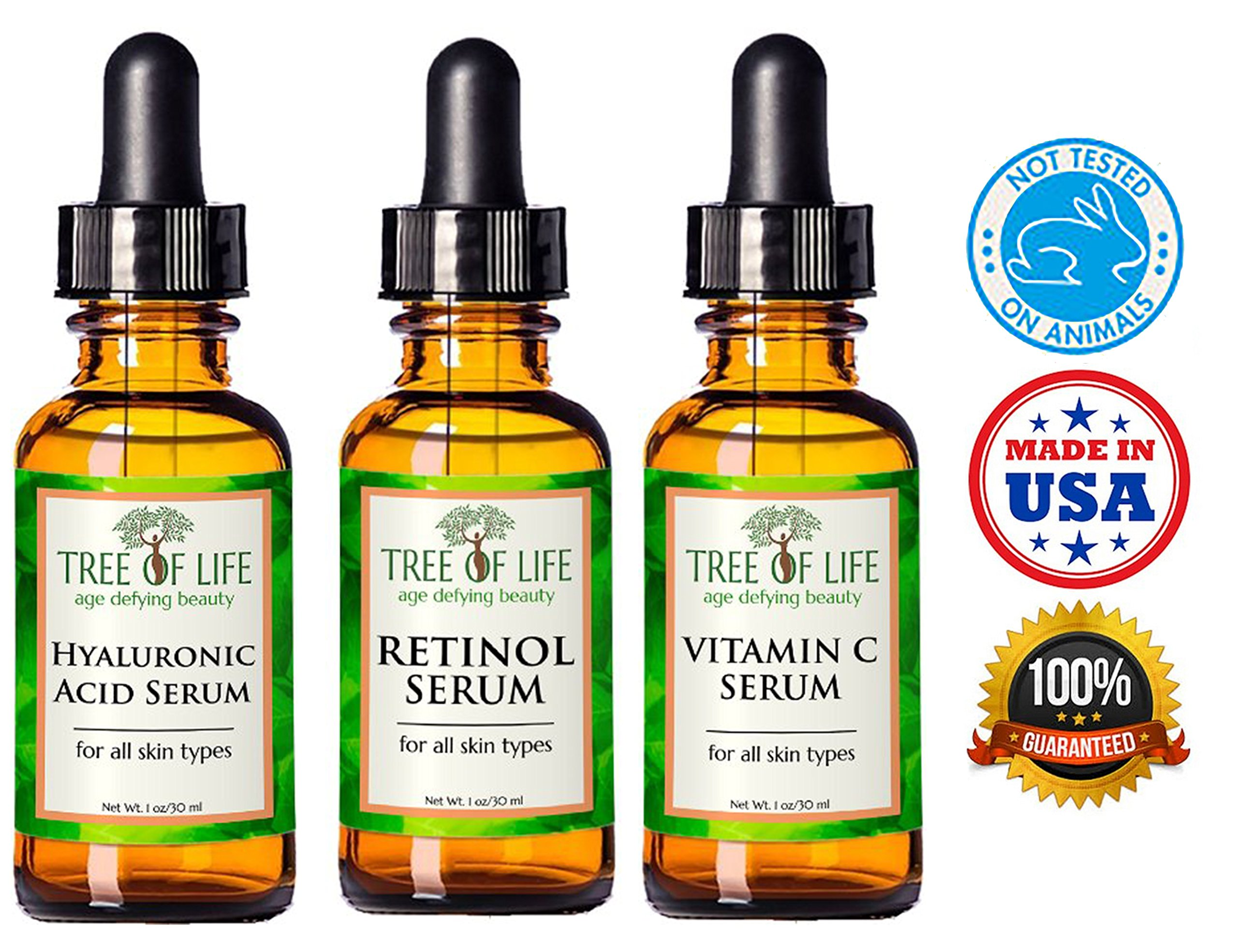 Anti Aging Serum 3-Pack - Face Serum Full Regimen by Flawless. Younger. Perfect. (Image #2)
