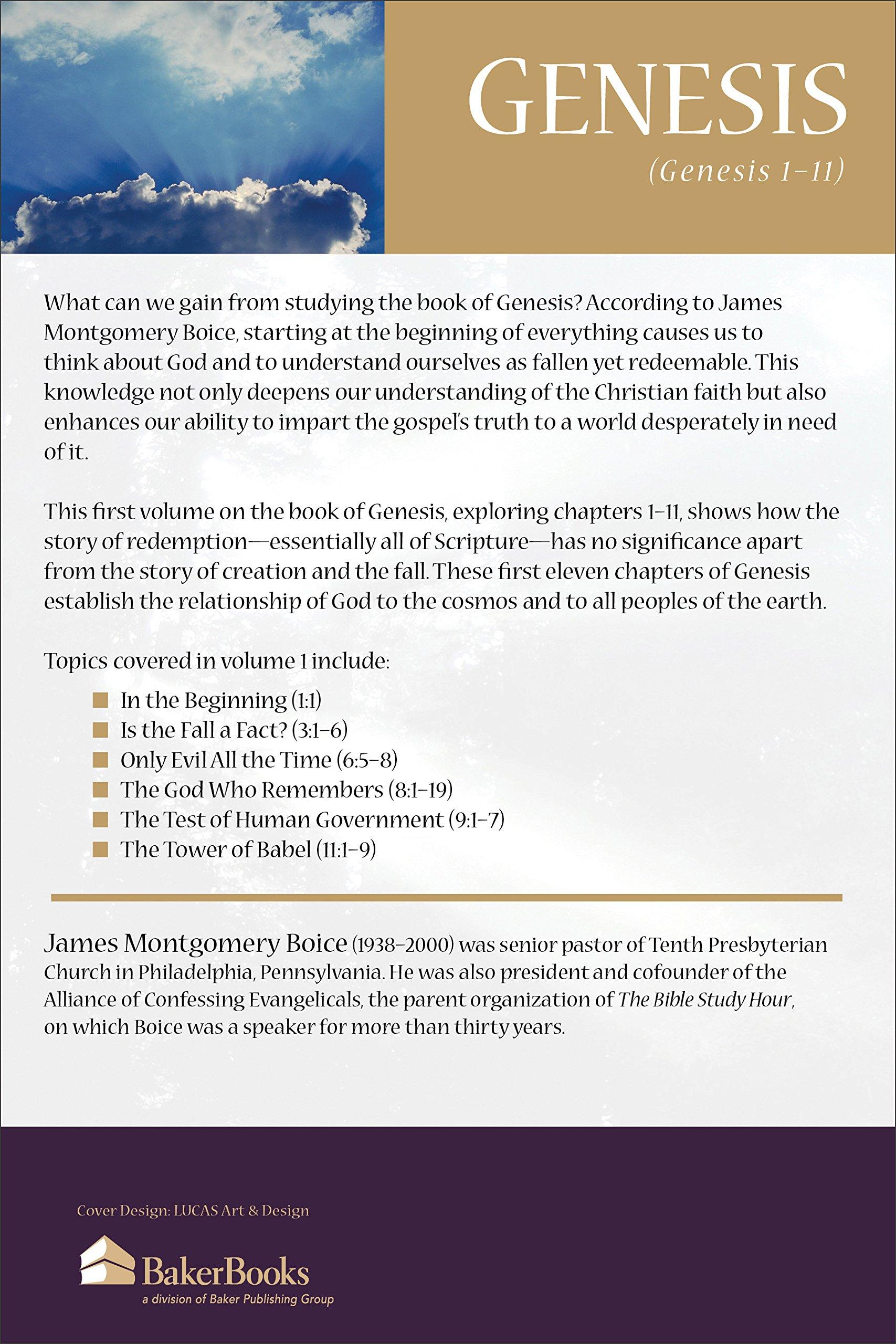 genesis an expositional commentary vol 1 genesis 1 11 james