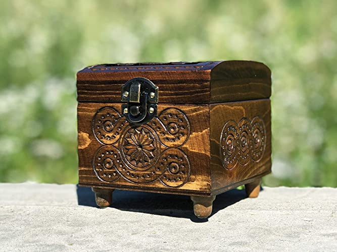 3534a6e9c1682 4 Inch Carving Vintage Box - Wedding Wooden Box - Small Wood Box - Storage  Box - Tree Carving Wedding Gift - Decorative Box - Father's Day Gift - ...