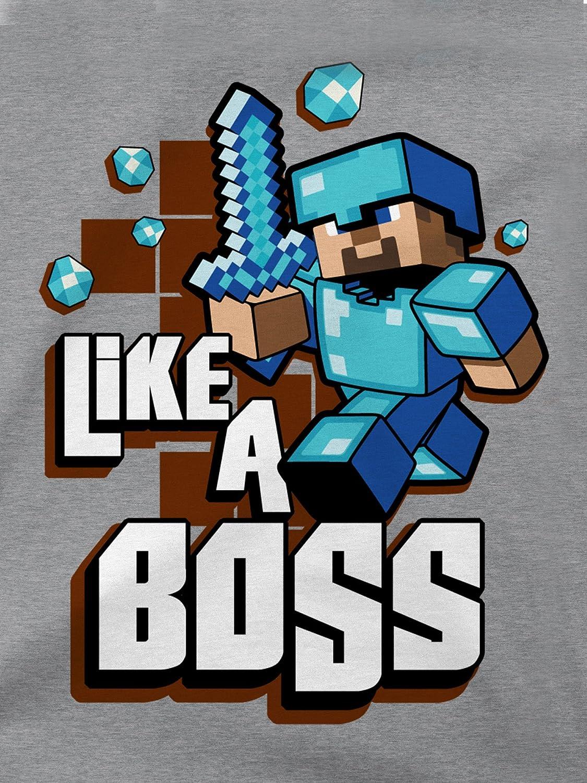JINX Minecraft Big Boys Like A Boss T-Shirt