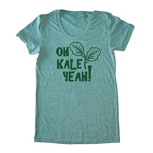 3ce2e60de6 Amazon.com: Women's Kale Shirt - Oh Kale Yeah ® Funny Vegan T-shirt ...