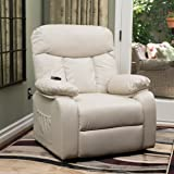 Edenton Light Beige Leather Lift Up Chair