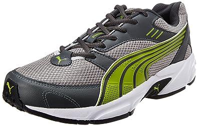 f97a39e92ad1d6 Puma Men s Pluto DP Dark Shadow-Silver-Mac Green Running Shoes - 9 ...