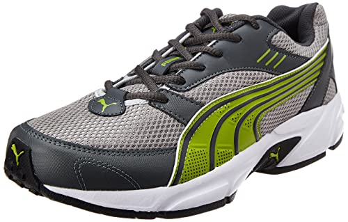 59d0fa0eeb7303 Image Unavailable. Image not available for. Colour  Puma Men s Pluto DP  Dark Shadow-Silver-Mac Green Running Shoes - 7 UK