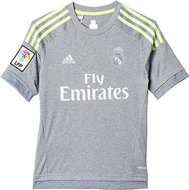 adidas 2ª Equipación Real Madrid CF 2015/2016 - Camiseta Oficial niño, Talla 164: adidas: Amazon.es: Ropa y accesorios
