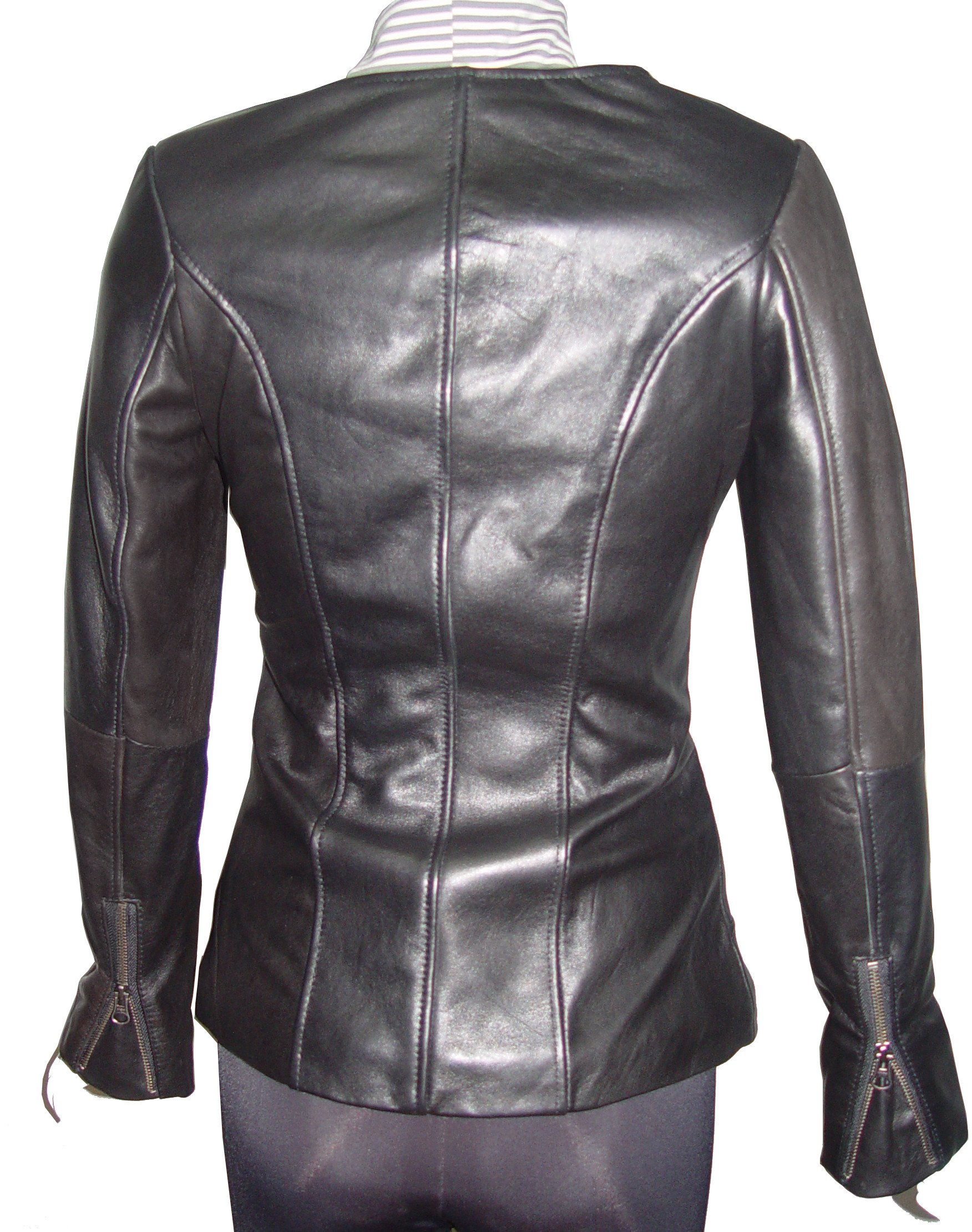 Nettailor Women PETITE & ALL SIZE Fashion 4128 Leather Motorcycle Jacket by Paccilo (Image #3)
