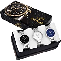 PIRASO - Watch Combo for Girls & Womens - Pack of 3 Rich Look Fashionable Watches - PW3-2266