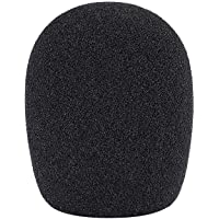 Neewer Ball Type Foam Windscreen Pop Filter for Condenser Microphone,1.8″ x 1.8″ x 2.75″/ 4.5cm x 4.5cm x 7cm, Black