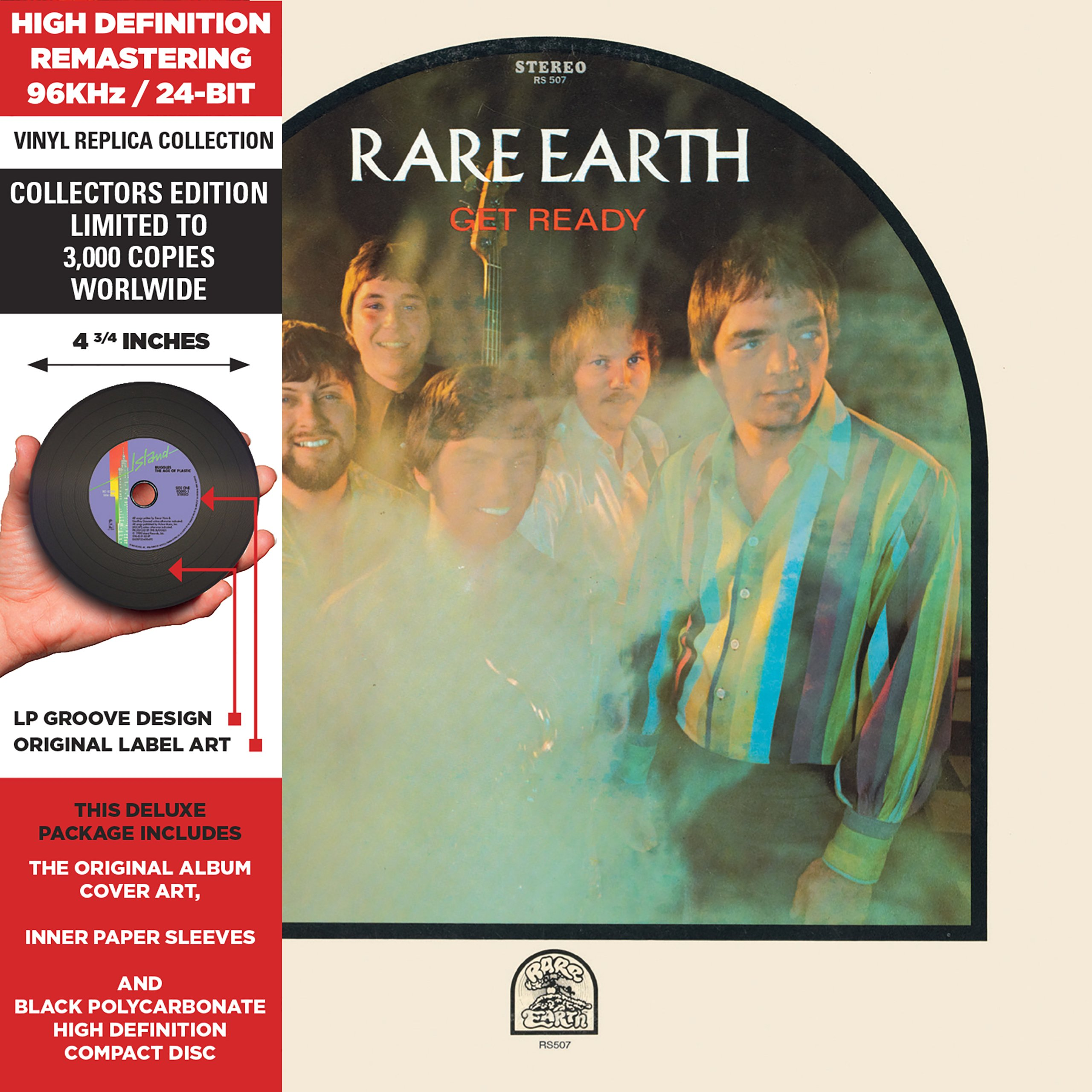 CD : Rare Earth - Get Ready (Limited Edition, Remastered, Collectors Edition)