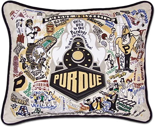 Catstudio Purdue University Collegiate Embroidered Decorative Throw Pillow