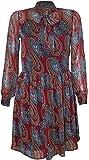 Attuendo Damen Paisley drucken Chiffon Neck Tie Sommer kleid