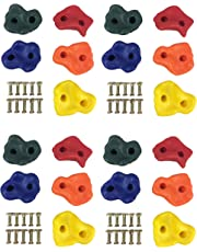 HIKS Products Kids Climbing Stones Plastic Multi-coloured Pack Of 20, Ideal For Climbing Frames , Tree Houses And Kids Climbing Walls