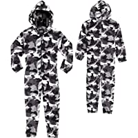 CityComfort Kids Onesie, All in One Pyjamas, Fleece Zip Up Jumpsuit Kinderen en tieners, Super zachte Hooded Childrens…