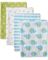 Gerber Unisex Baby 4 Pack Flannel Burp Cloth