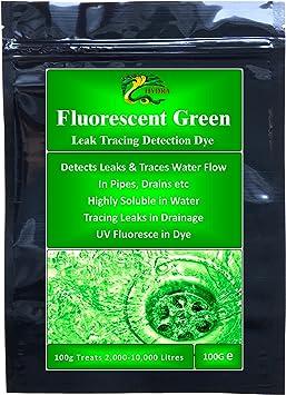 Tinte para detección de fugas de corriente Hydra verde fluorescente tinta de trazado para desagües 100 mm