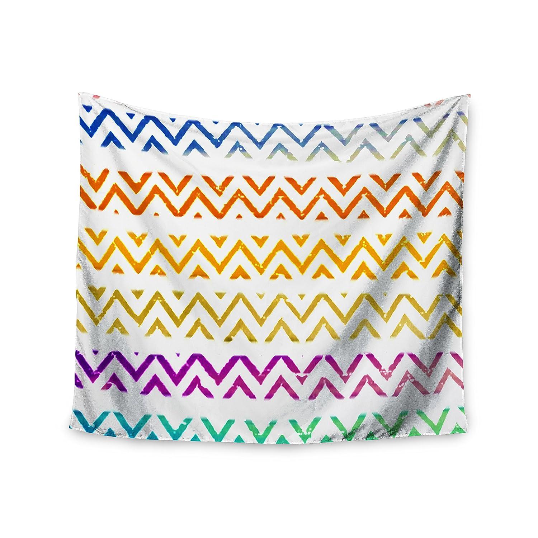 Kess InHouse Sreetama Ray Chevron Add Warm Chevrons Wall Tapestry 68 X 80