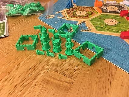 Build3D Piezas de Repuesto para colonos de Ciudades catanas y Caballeros de expansión – Viking – Verde: Amazon.es: Juguetes y juegos