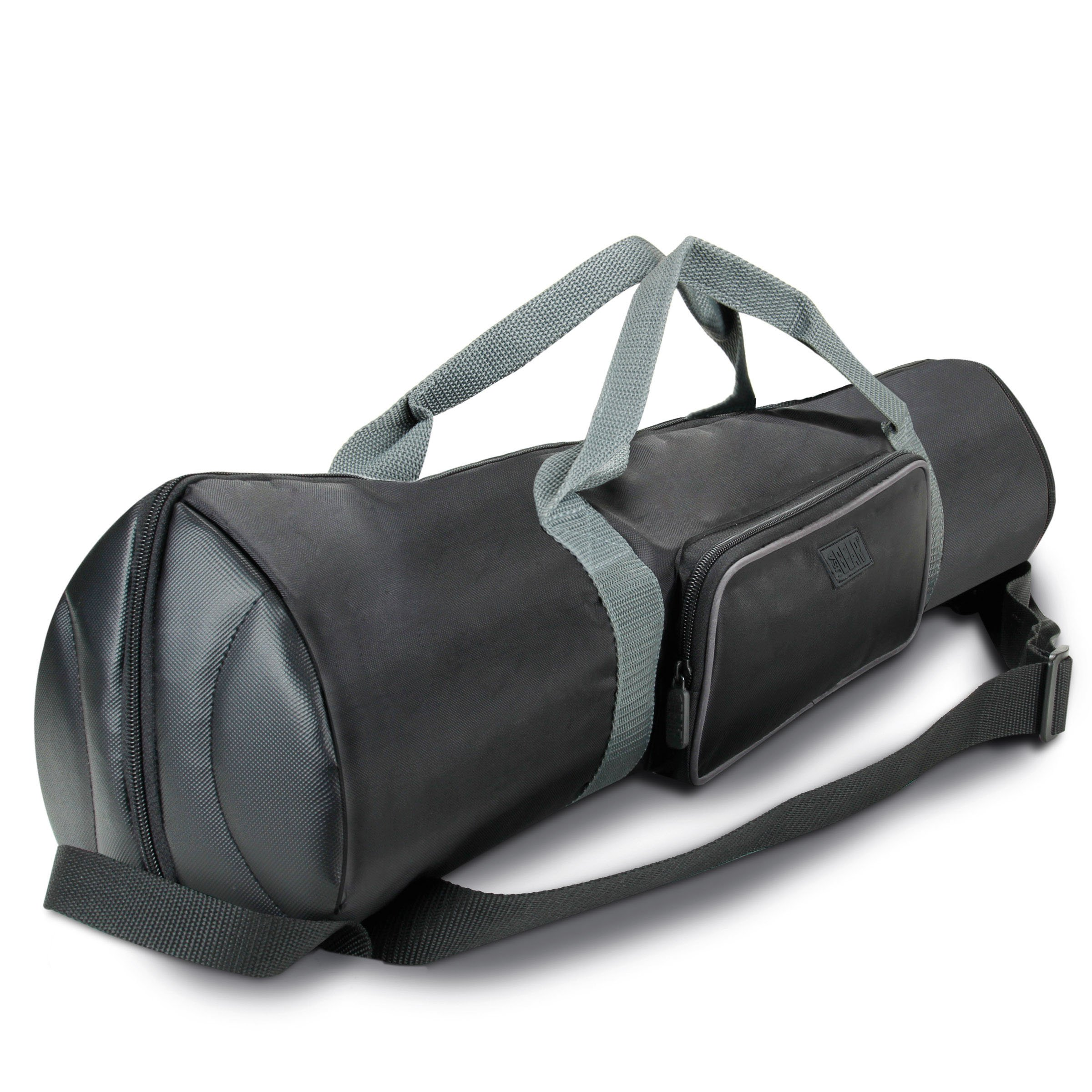 Padded Tripod Case Bag by USA Gear - Holds Tripods from 21'' to 35'' Folded with Shoulder Strap, Adjustable Size Extension and Storage Pocket for Professional Camera Accessories and Photo Carrying Needs
