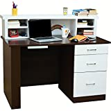 Mubell Nordic Study Table With Additional Hutch, Three Drawers, And Worstation Utility Tray (4 Feet X 2 Feet Size)