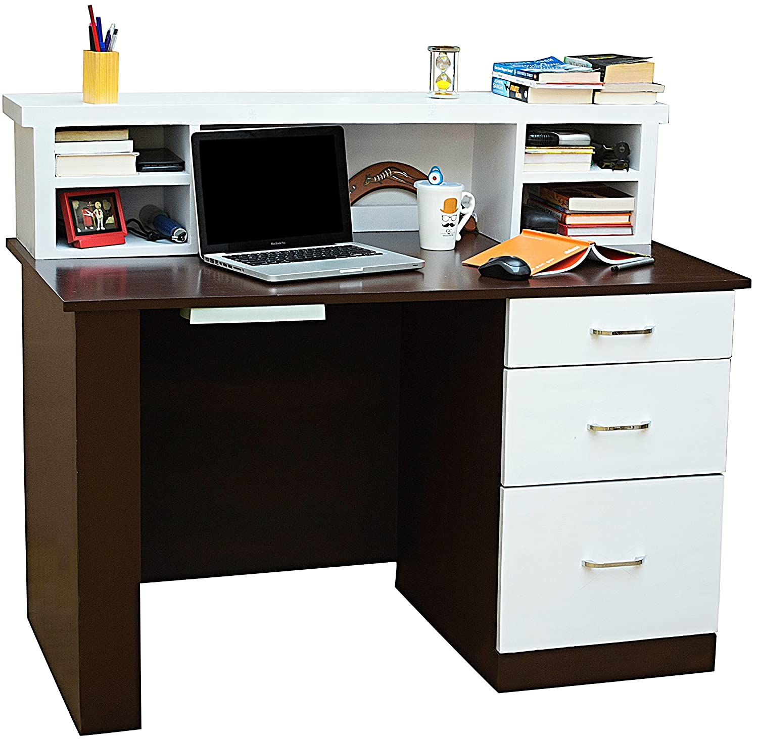 Mubell Nordic Study Table With Additional Hutch Three Drawers