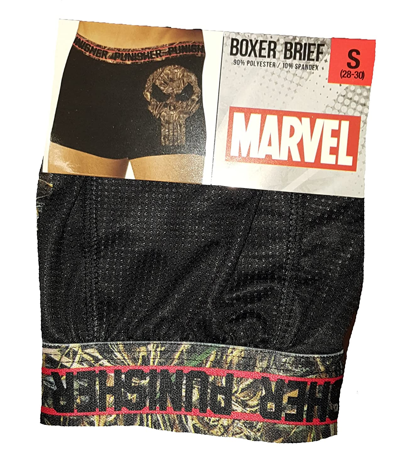 Marvel Comics Punisher Realtree Camo Camouflage Logo Boxer Briefs Mad Engine WMMC514555PUN