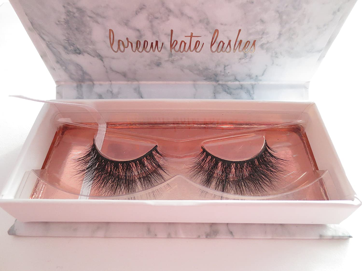 3D Mink False Eyelashes - Cruelty Free - Handmade - Soft, Light, Comfortable & Reusable Strip False Lashes - 1 Pair Package (Bella) Loreen Kate Lashes