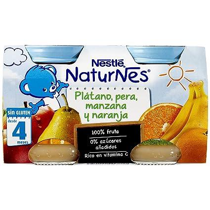 Nestlé Naturnes Alimento Infantil Plátano, Pera, Manzana y Naranja - Paquete de 2 x