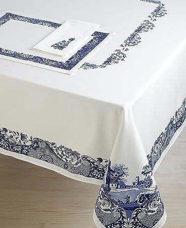 Spode Blue Italian Tablecloth 70u0026quot; ...