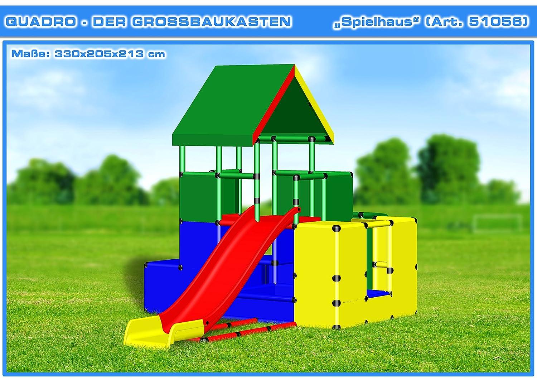 QUADRO Spielhaus - Klettergerüst Kletterturm Spielturm: Amazon.de ...