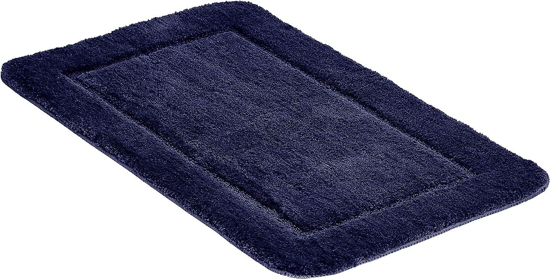 Bianco Set di tappeti da bagno con bordi scolpiti Basics 2 pezzi