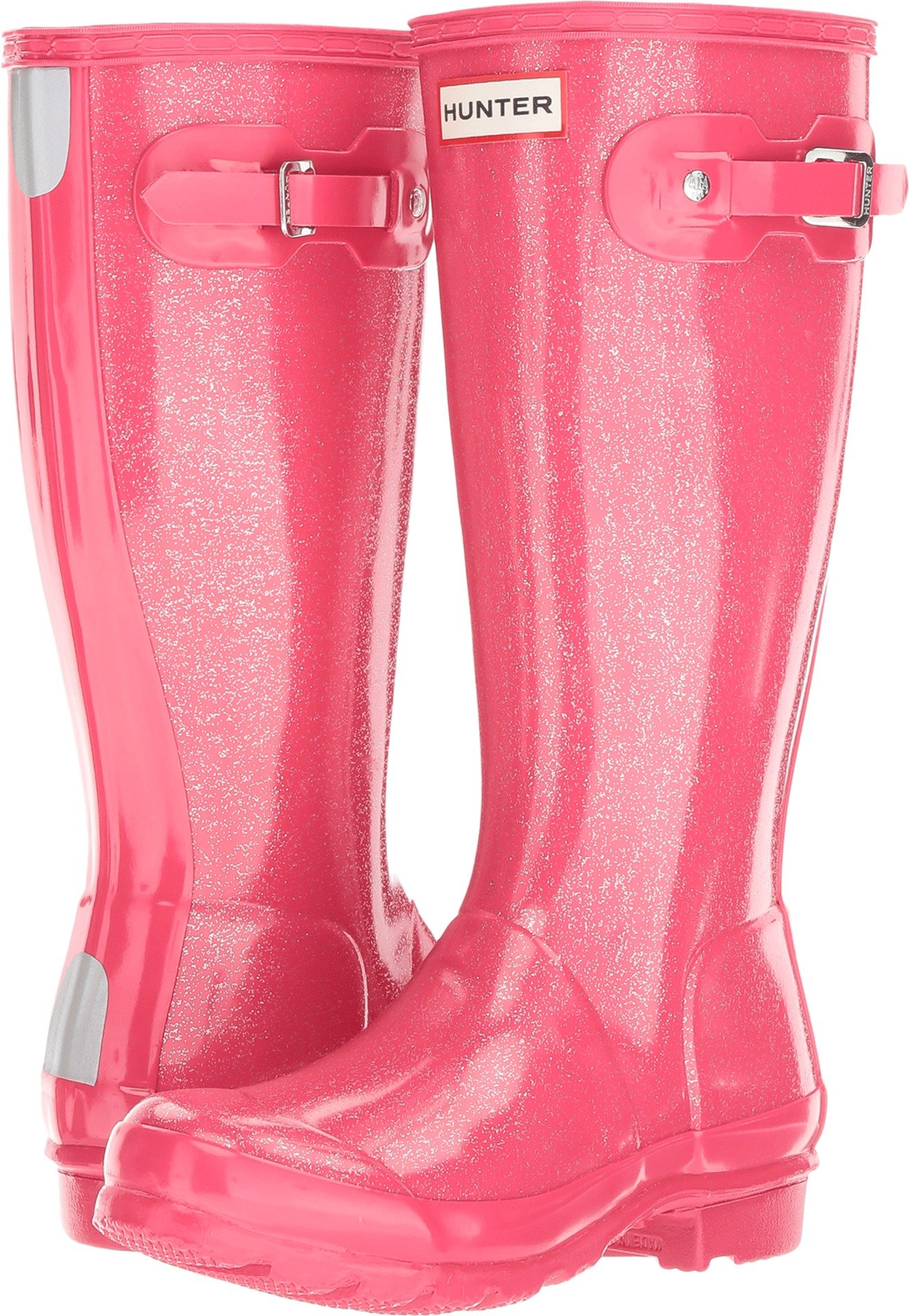 Hunter Kids Unisex Original Glitter Finish (Little Kid/Big Kid) Mosse Pink 3 M US Little Kid