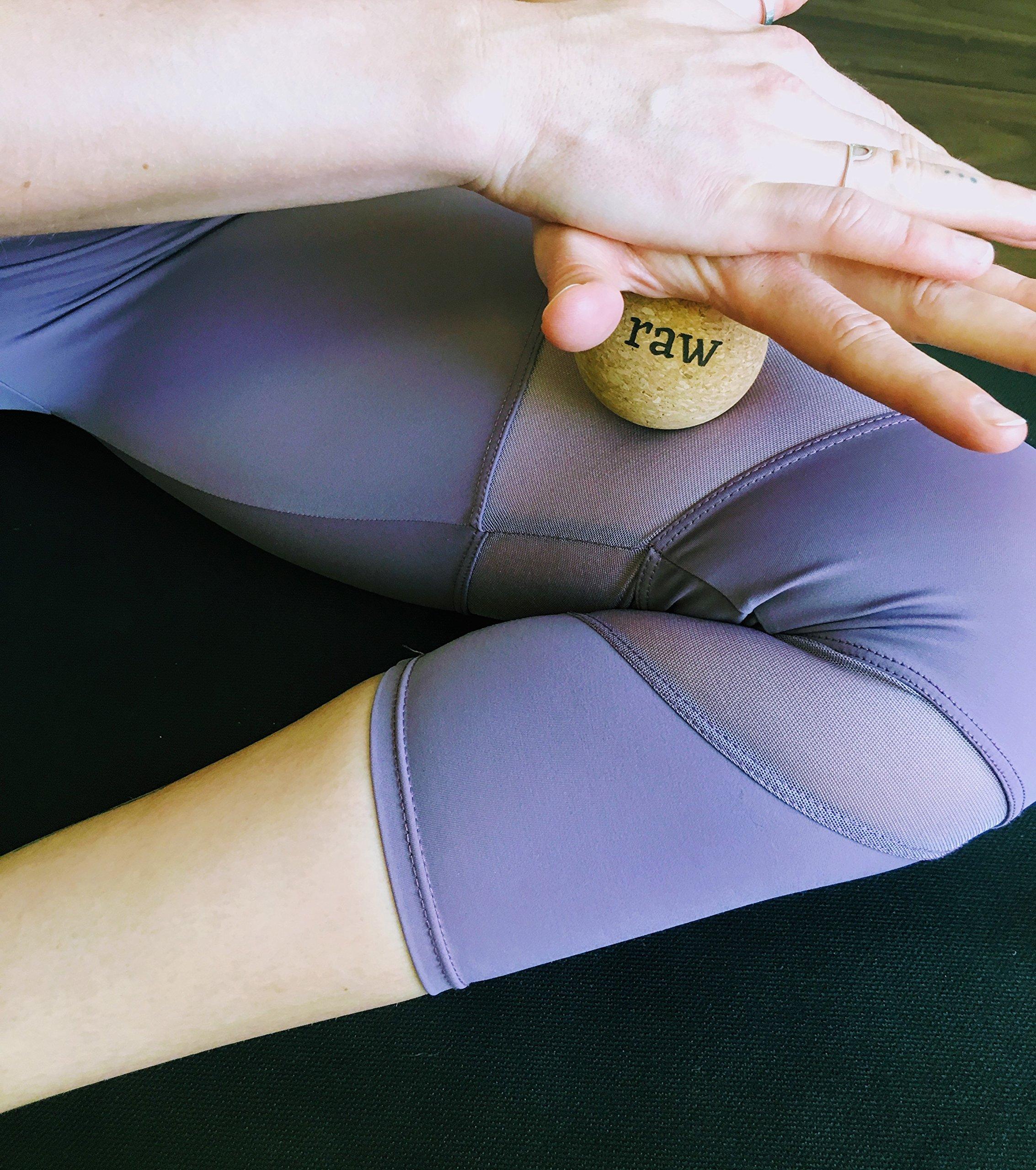 Rawlogy 100% Cork Massage Ball Set for Reflexology & Self-Massage (Firm) | Designed by Ultralight Hikers