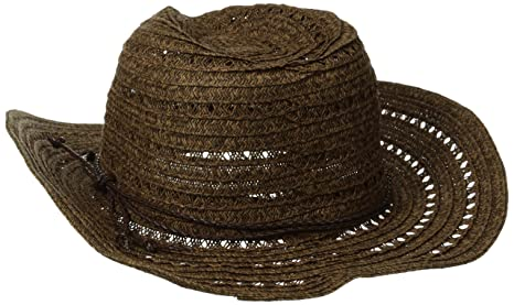893a14c5174fa San Diego Hat Company Women s Open Weave Cowboy Hat with Braided Trim